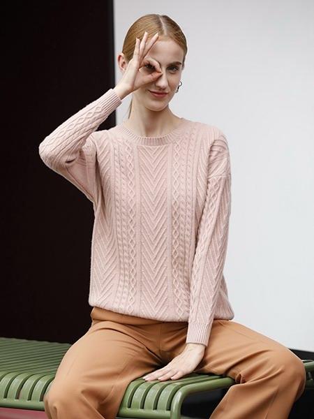 女士圆领羊绒衫W2020-14