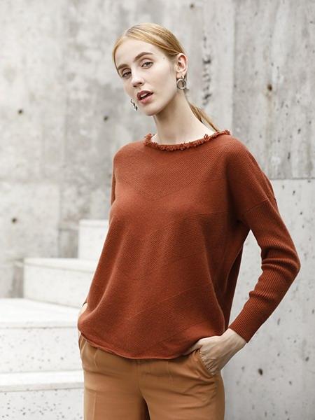 女士短款羊绒衫W2020-12