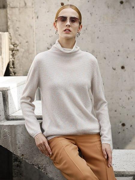 女士休闲羊绒衫W2020-11