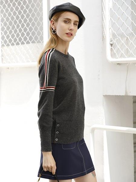 女士圆领羊绒衫W2020-10