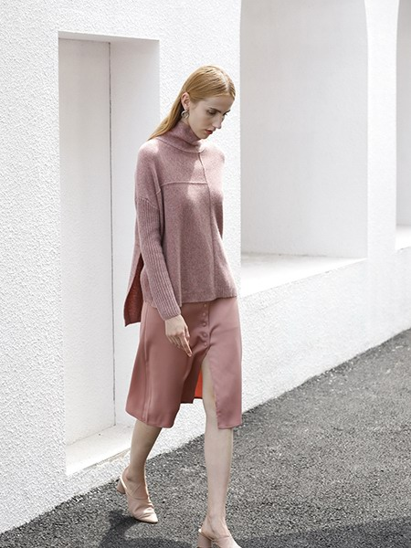 女士高领羊绒衫W2020-09