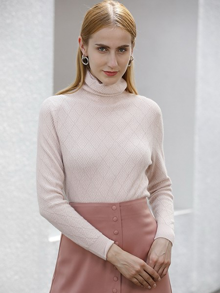 女士高领羊绒衫W2020-08