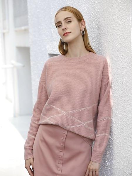 女士圆领羊绒衫W2020-05