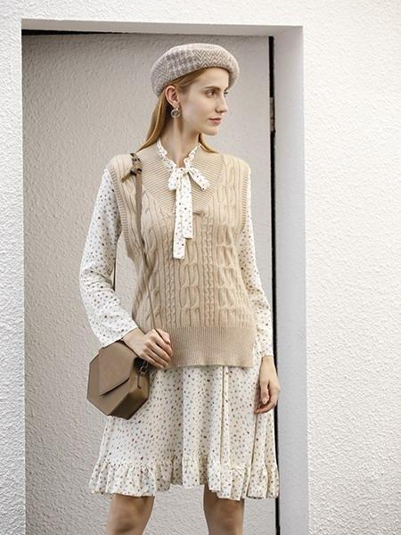 女士羊绒背心W2020-04
