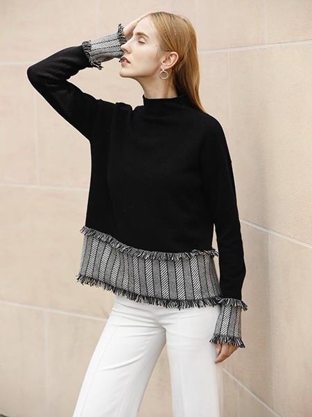 女士圆领羊绒衫W2020-02